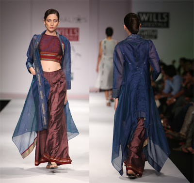 layers of fine constructed silhouettes and unconventional drapes - the  'Athaaha'' collection by Vaishali Shadangule