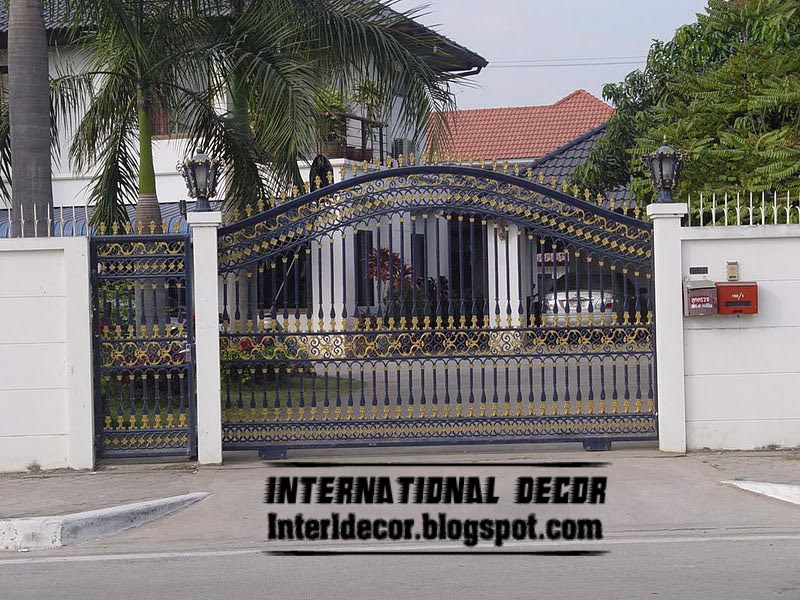 Modern sliding iron gate designs uk sliding iron gates for Modern house gate designs