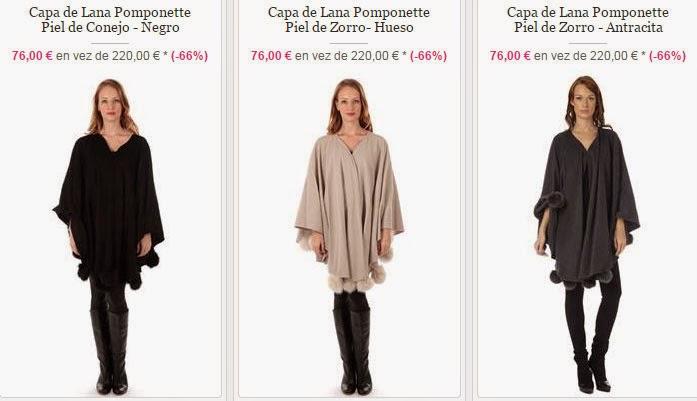 Algunos modelos de capas de lana y piel ideales para regalo