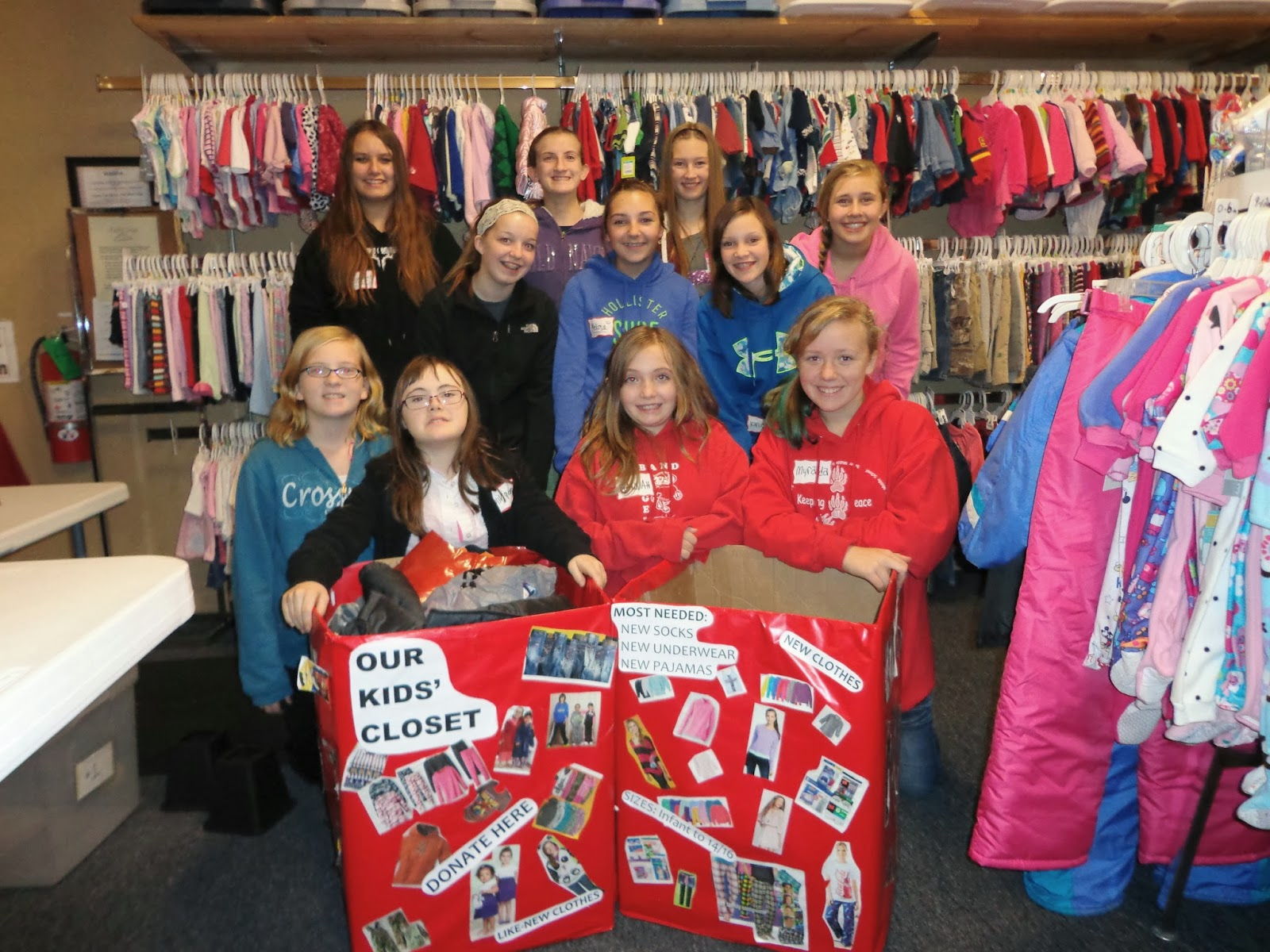 St. Johnu0027s Lutheran Church Confirmation Class Recently Held A Very  Successful Clothing Drive To Benefit The Clients Of Our Kidsu0027 Closet.