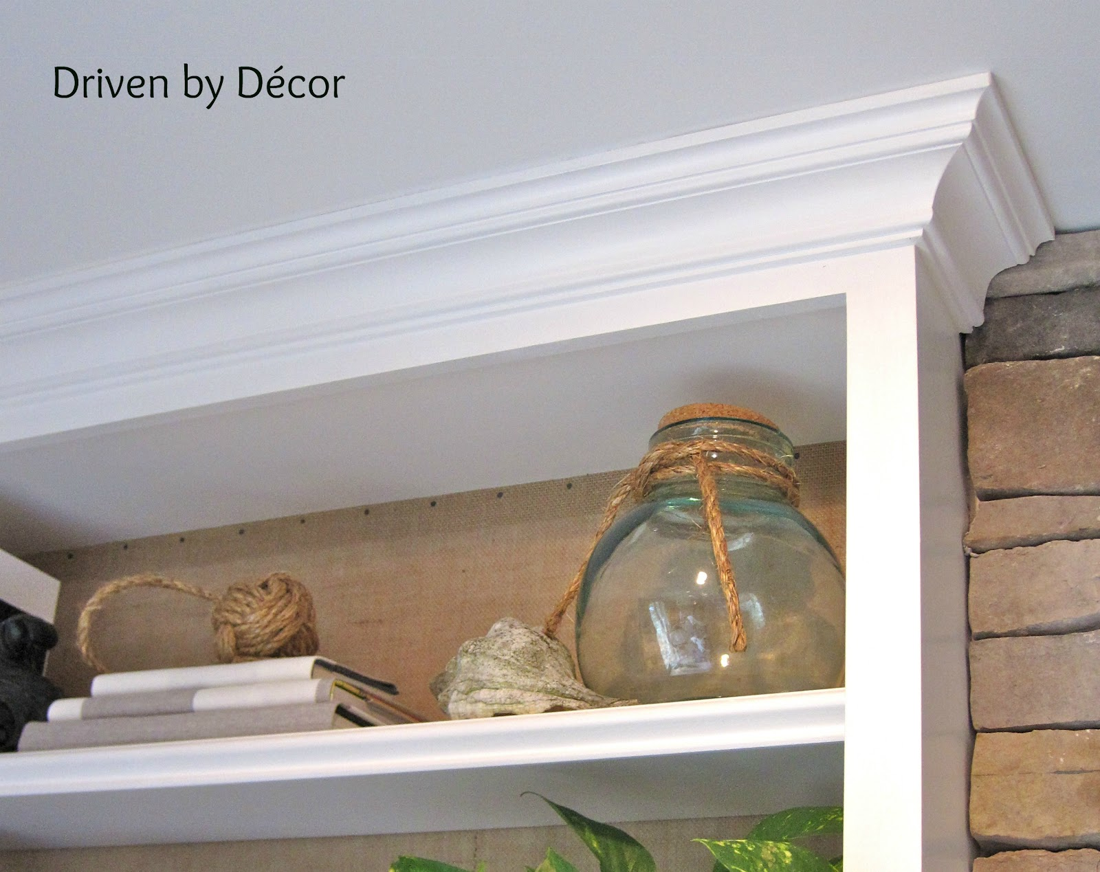 Amazing photo of New crown and shelf moulding on built in bookcases watermarked.jpg with #4B6030 color and 1600x1269 pixels