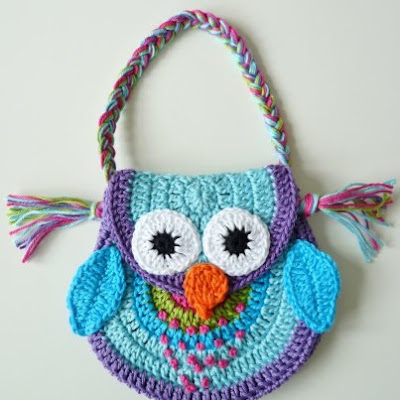 Free Crochet Pattern Owl Tote Bag : TeenyWeenyDesign: Crocheting like mad...