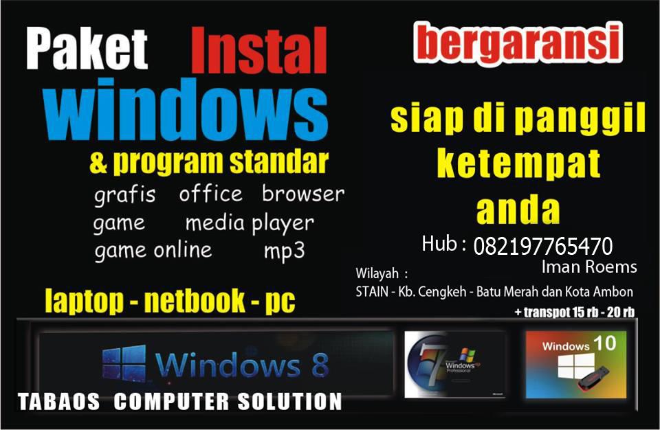 Jasa Install Computer Kota Ambon