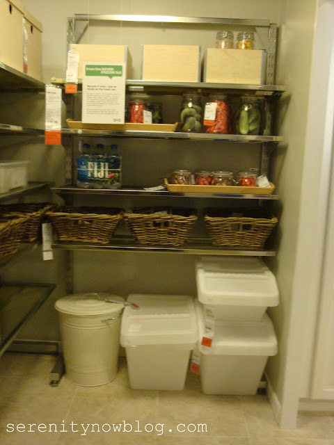 how cute would this little cart be to store in a large pantry and pull out into the kitchen when you need it - Ikea Kitchen Organization Ideas