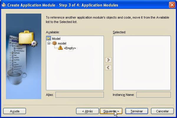 incluir otros viewobject application module