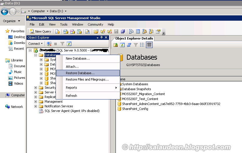 sharepoint 2003 to 2007 database migration