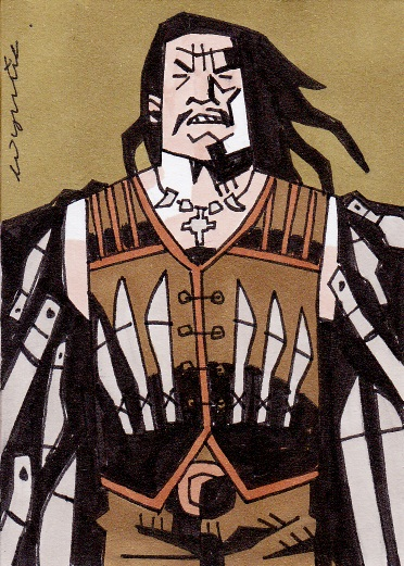 Machete sketch card por myporcelaintears