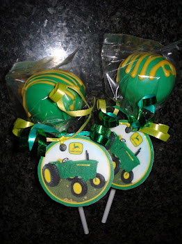 John Deere Cake Pops