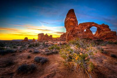 Cañones en el desierto