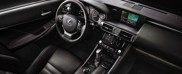 Interior view of 2015 Lexus IS250