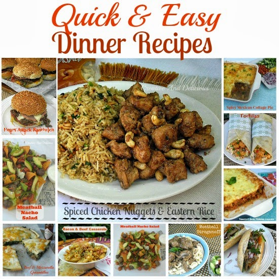 Creative and delicious quick and easy dinner recipes for Easy entree recipes dinner party