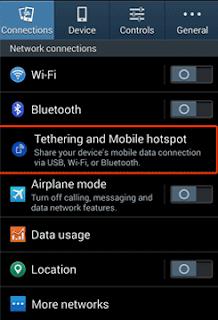 Cara Setting HP Android Jadi Modem