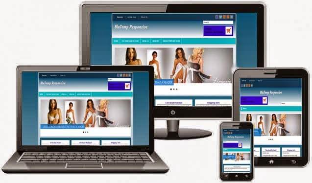 BluTemp - Template Toko Online Blogspot Responsive