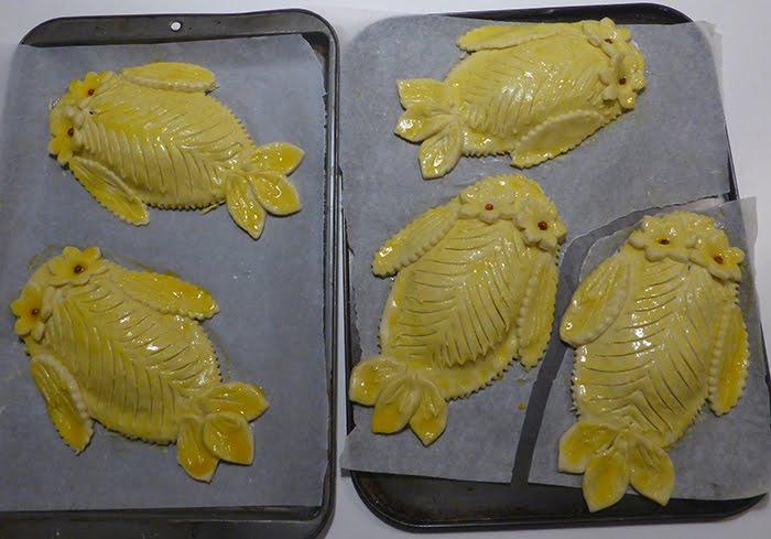 Pesci di sfoglia con pancetta affumicata e rana pescatrice