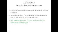 news boursières économiques 12/09/2014
