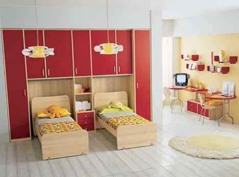 denah rumah minimalis desain kamar tidur anak