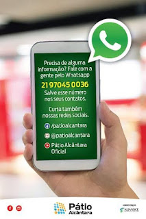 Pátio Alcântara lança serviço de atendimento via WhatsApp