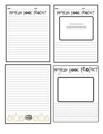 Pumpkin book report instructions