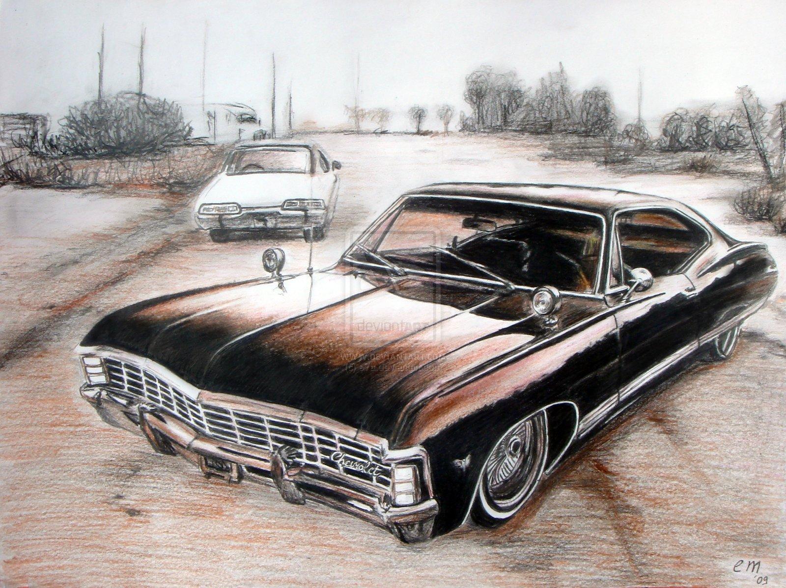 klasik arabalar 1967 chevrolet impala. Black Bedroom Furniture Sets. Home Design Ideas
