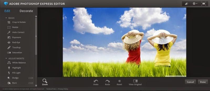 editar fotos online no photoshop express editor