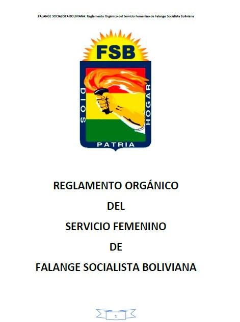 Reglamento Orgánico del Servicio Femenino Nacional FSB
