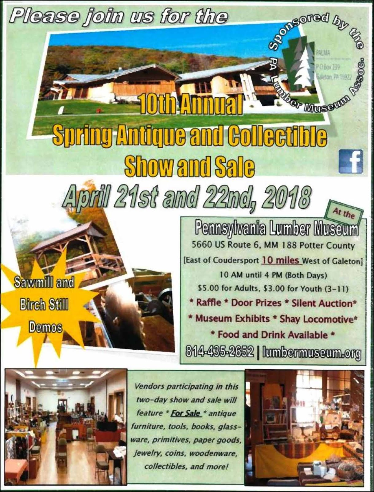 10th Annual Show & Sale At PA Lumber Museum