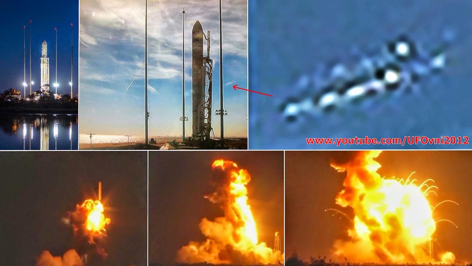 Crash d'OVNI avant la fusée Antares