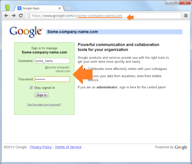Login into your Google Apps account