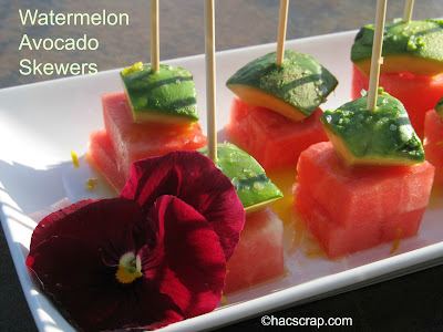 My Scraps | Avocado Watermelon Skewers