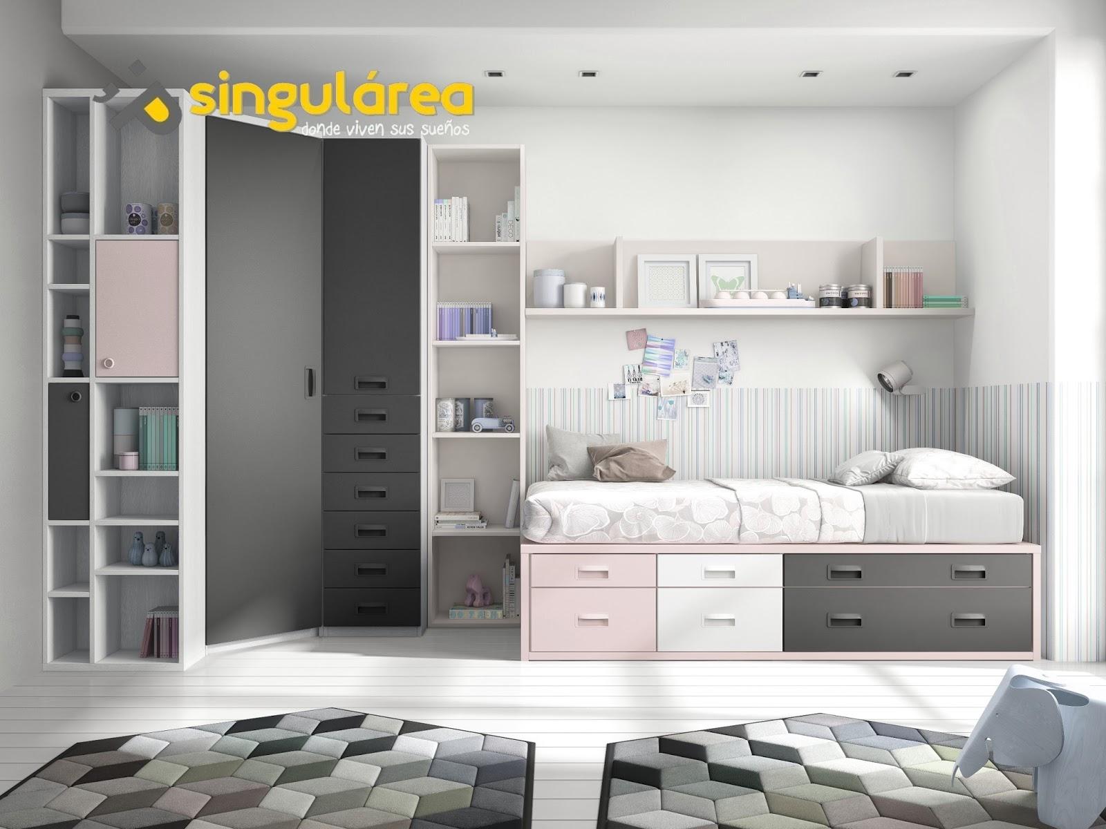Dormitorio compacto 1842 for Dormitorios compactos