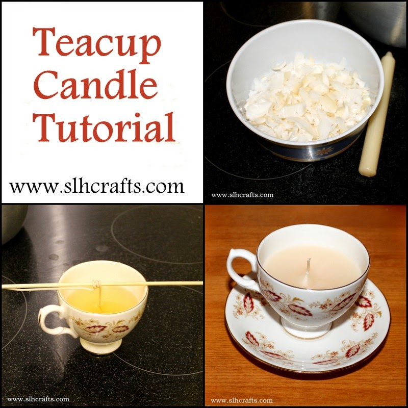 teacup candle tutorial upcycling