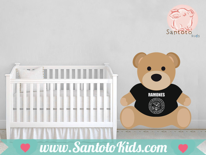 vinilo teddy bear rockero