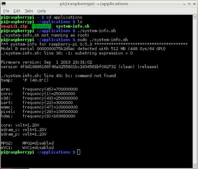 Print system info for Raspberry Pi