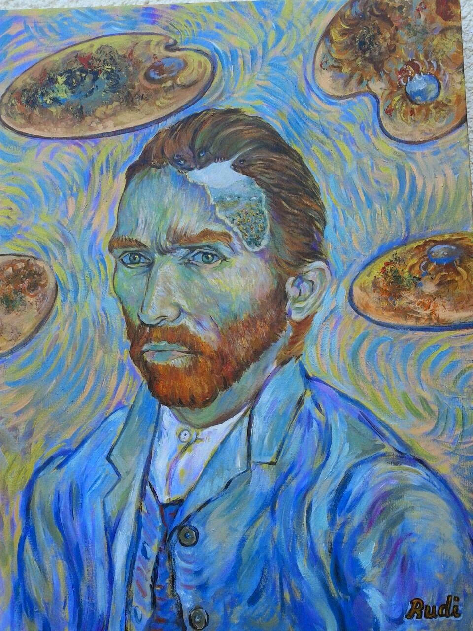 Autorretrato Van Gogh pintora Rudi