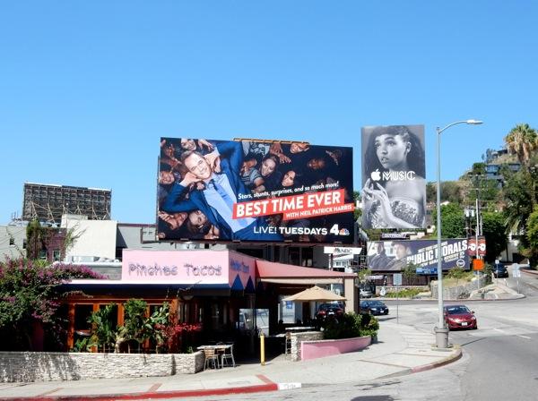 Best Time Ever series premiere billboard