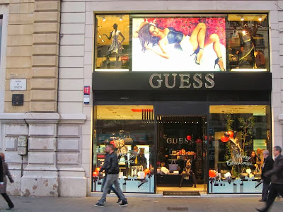 Guess store in Barcelona