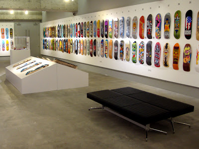 Gallery One at MODA for the Skate It Or Hang It exhibition