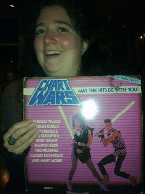 Chart Wars vinyl album from the 1980s