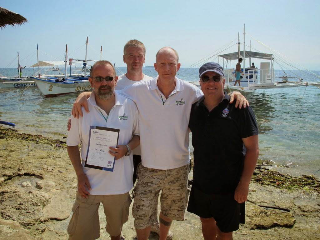 PADI IE for March 2015 in Moalboal, Philippines very successful