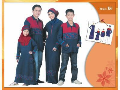 KIRGYZ SARIMBIT Koleksi Busana Muslim Keluarga Biru