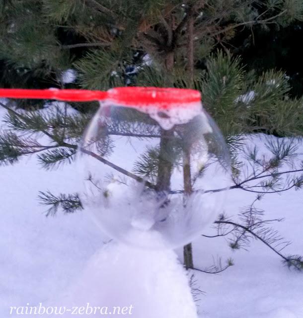 Замёрзший мыльный пузырь при -10 °С