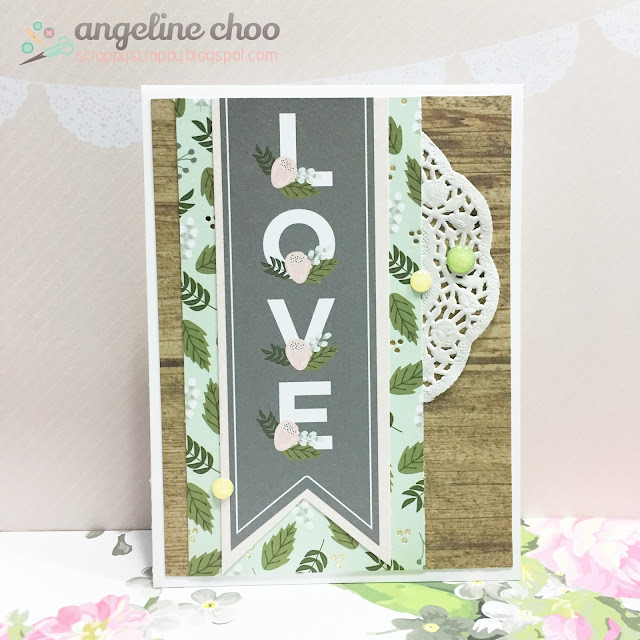 ScrappyScrappy: It's all about LOVE #scrappyscrappy #dcvw #card #love #doily