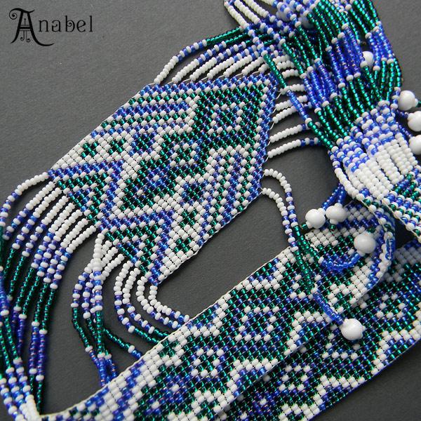 купить гердан гайтан из бисера, украшения ручной работы beadwork