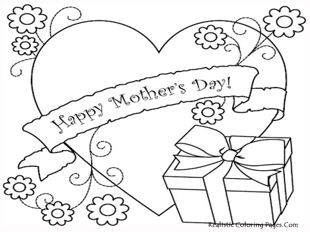 Mother S Day Coloring Worksheet : Printable mothers day coloring pages realistic