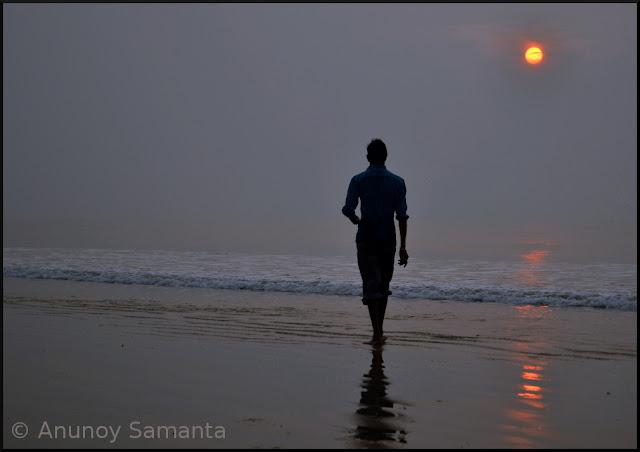 A winter Sunrise over Digha beach