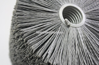abrasive nylon spiral round brush