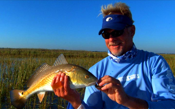 Georgia Redfish in the Grass Addictive FIshing clip