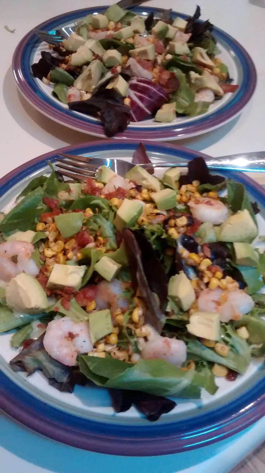 Romaine, Avocado, And Corn Salad Recipe — Dishmaps