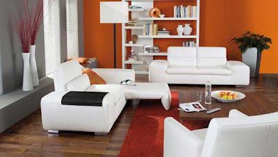 salone bicolore classico : Consigli per la casa e l arredamento: Imbiancare soggiorno arancione ...