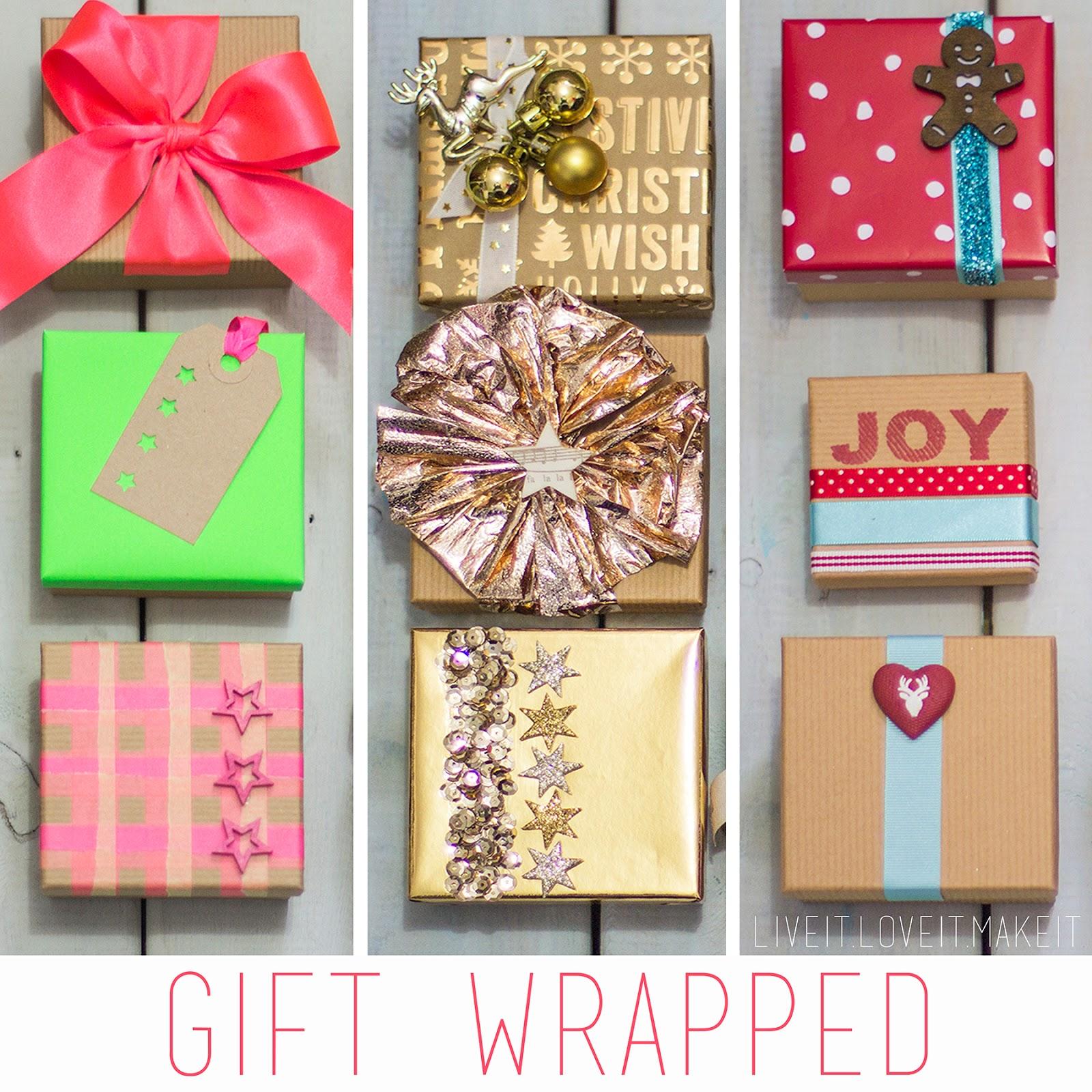 Live it love it make it gift wrapped 3 ways gift wrapped 3 ways negle Choice Image
